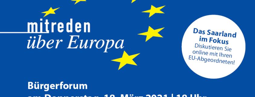 Mitreden über Europa Flyer